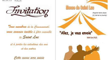 Invitation messe Saint Luc